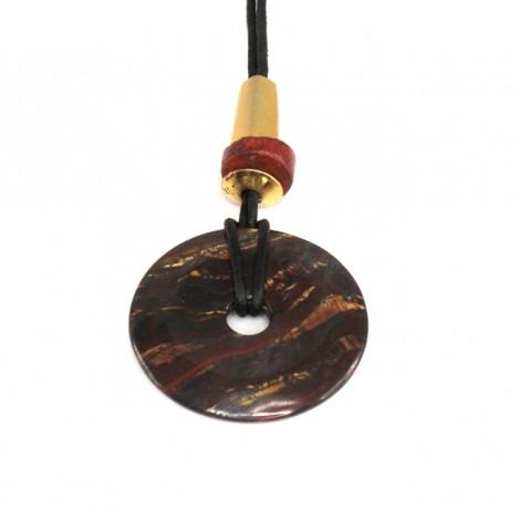 Colier cu spectaculoasă amuletă Bi | Zero Point Energy | spectaculos specimen de Ochi de Tigru Matrix