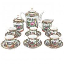 Splendid serviciu pentru servirea ceaiului | porțelan Guang Cai | China | anii '50