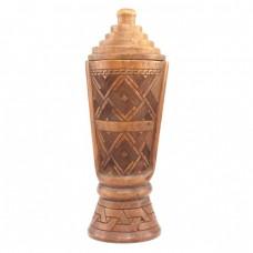 RAR : Urnă-humidor pentru tutun sau păstrarea ceaiului, sculptată în lemn  Huang Yang | China | cca. 1900