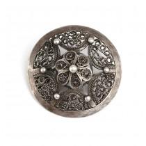 Veche și opulenta broșă berberă | argint filigranat | cca.1900 | Tunisia