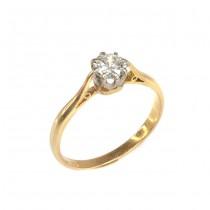 Inel victorian, de logodnă, aur 22 K & diamant solitaire 0.52 CT | cca.1900 Marea Britanie