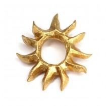Broșă - pandant modernist Lancôme | oțel placat cu aur galben | anii '70
