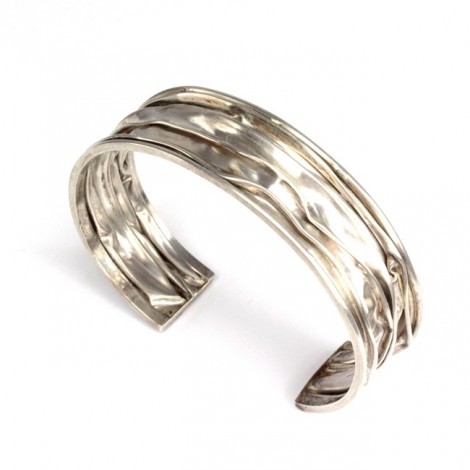 "Bratara statement "" Crepon "" | manufactura in argint | Thailanda"