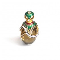 Pandant stil Fabergé | argint aurit, emailat & cuarț fumuriu | Rusia
