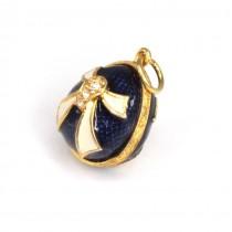 Rafinat pandant stil Faberge | Royal Blue  | argint aurit & emailat | Rusia