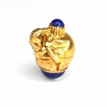 Inedit pandant în stil Fabergé porte-bonheur | Elefant | argint aurit & lapis lazuli | Rusia