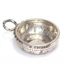 F. RAR : Impresionant tastevin din argint | manufactură de secol XVIII | cca.1785 Franta