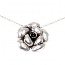 Colier statement cu impozant pandant floral | Trandafir | Mexic