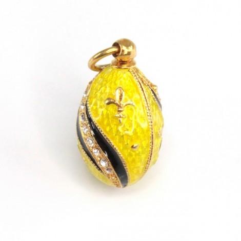 Pandant în stil Fabergé | Fleur-de-lis | argint emailat & aurit | Rusia