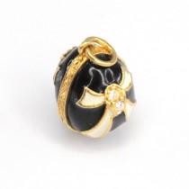 Pandantiv Ou Fabergé | argint emailat cloisonné & cristale zirconium | Rusia