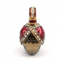 Elegant pandantiv în stil Fabergé | argint emailat și aurit & cuarț fumuriu | Rusia