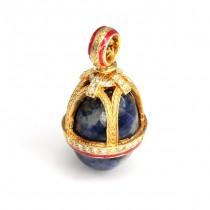 Pandant în stil Fabergé | Royal Crown | argint aurit și emailat & lapis lazuli | Rusia