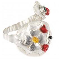 Impresionantă brățară talismanică  | Trifoi | argint & pietre naturale | UNICAT #Furculision