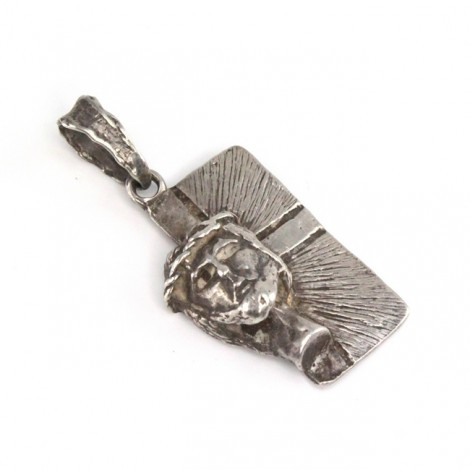 Inedit pandant religios în stil brutalist | Hristos | bijuterie de autor | anii '50 Italia