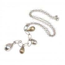 Elegant colier minimalist | Lavalier | argint & argint patinat | Italia anii '2000