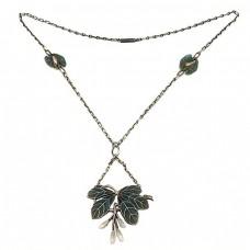 F. RAR : Colier Jugendstil - atelier Heinrich Levinger | argint, perle naturale & email plique-à-jour | cca.1890