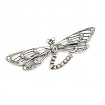 Broșă de perioadă Art Nouveau | Dragonfly | manufactură de atelier K. Thamar | cca.1910 | Spania