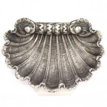 RAR: Vechi bol pentru caviar | Saint Jacques |  manufactură în argint | secol XIX | Italia