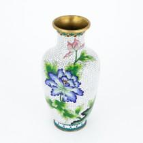 Impresionantă vază chinezească | alamă & email cloisonné Jingfa | China cca.1960