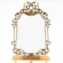 Impresionantă oglindă parietală în stil de inspirație Art Nouveau| Italia | cca.1950