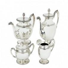 Serviciu din argint pentru servirea ceaiului și a cafelei | stil Empire | atelier Cesa 1882 | anii '50 | Italia