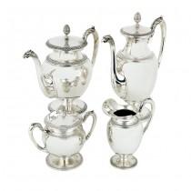 Serviciu din argint pentru servirea ceaiului și a cafelei | stil Empire | atelier Cesa 1882 | Italia
