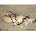 Colier tribal tuareg accesorizat cu o amuletă Hamsa   argint și onix negru   Niger