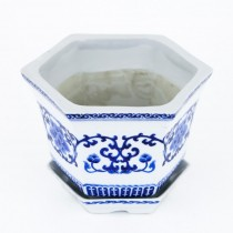 Vechi ghiveci chinezesc din porțelan glazurat | Huāwáng | 1950 -1970