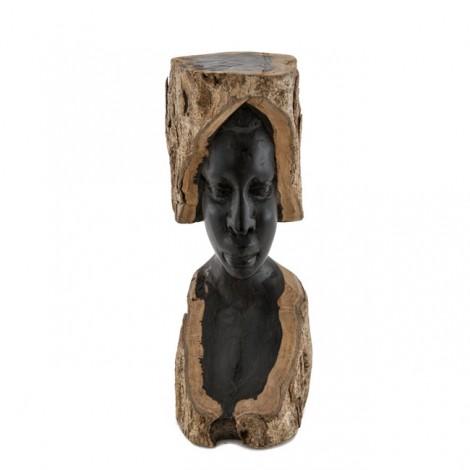 Remarcabilă sculptură africană în lemn de abanos | Femeie Makonde | Tanzania