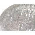 Vechi platou egiptean decorat cu scenă de vânătoare | manufactură în argint | cca.1950