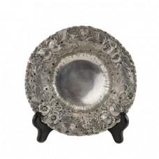 Veche fructieră neo-rococo manufactură în manieră sculpturală   argint     cca.1900   Italia