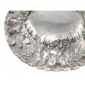 Veche fructieră neo-rococo manufactură în manieră sculpturală | argint | | cca.1900 | Italia
