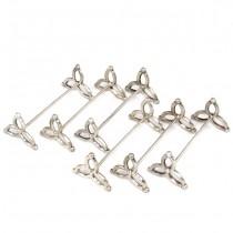 Set de 6 suporturi din argint, pentru tacâmuri | stil neogotic | Belgia | cca.1900