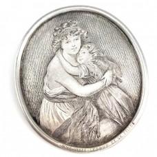 Excepțională broșă victoriană | Elisabeth Vigee Le Brun | manufactură în argint | cca.1850