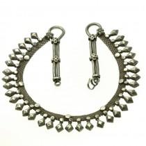Opulent colier tribal indian | veche manufactură în argint | Rajasthan | sec.XX