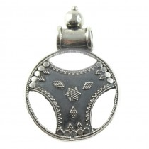 Inedită amuletă șivaistă | Yantra | manufactură în argint | India