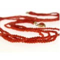 Rafinat colier de coral roșu natural de Sardinia | închidere din argint vermeil | Italia cca.1970