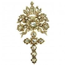 Pandant nobiliar din aur cu 57 diamante naturale | cca.1880 | atelier european