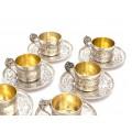 Serviciu din argint pentru servirea cafelei | argint 950 | atelier Alphonse Debain  | cca.1890