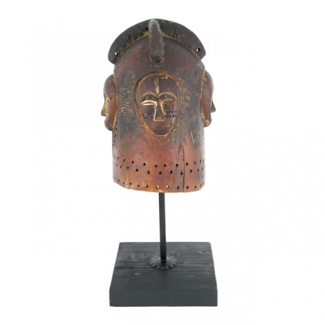 Spectaculoasă mască-coif Ngotang |  tribul Fang |  Gabon | anii '40