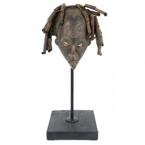 """Veche mască tribală africană """"Pwo"""", triburile Chokwe, Congo/Angola, cca. 1950"""