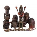 Impresionantă mască ceremonială Satimbe   tribul Dogon   Mali   cca.1950