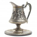 """Monumentală carafă Renaissance Revival, """"Dionysus"""", bronz argintat, cca. 1865"""
