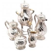 Monumentală garnitură Art Nouveau, din argint, pentru servirea ceaiului și a cafelei, atelier Wolfers Freres, cca. 1910