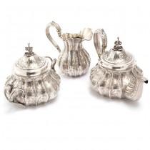 Excepțional serviciu din argint pentru ceai sau cafea |  Chinoiserie | atelier Martial Fray | Franța cca. 1850
