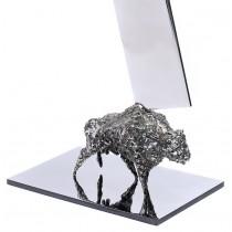 """Impresionantă sculptură """"Inima Moldovei"""", Sorin Purcaru. oțel inoxidabil"""
