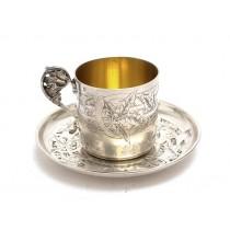 Garnitură solitaire pentru servirea cafelei | argint 950 | atelier Alphonse Debain  | cca.1890