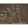 Casetă de bijuterii Greek Revival - Triumful lui Alexandru cel Mare | bronz patinat | cca. 1850 | Marea Britanie