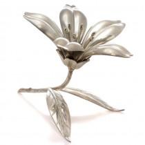 Garnitură modernistă cu 5 scrumiere solitaire | alamă argintată | anii '50 | Spania