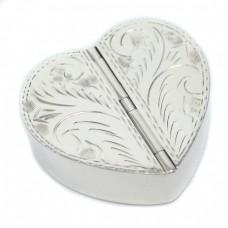 Cutiuță din argint pentru pastile, inimioară, cu 2 compartimente | Italia